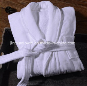 Formato su ordinazione all'ingrosso, accappatoio poco costoso dell'hotel della cialda del cotone di marchio