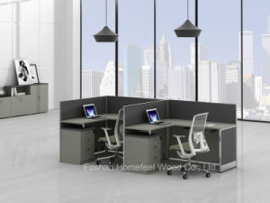 Petit bureau moderne ordinateur de bureau de poste de travail pour 2