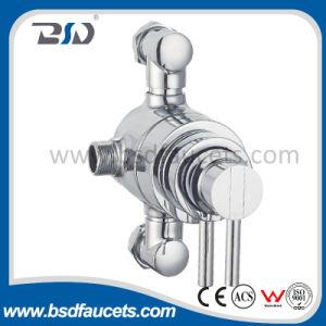 Expuesto Latón cuerpo maneja la válvula termostática de ducha
