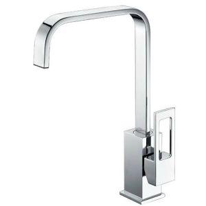透かし衛生製品の正方形の真鍮の台所単一のレバーのコック(HD4229D11)