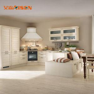 Metros Cúbicos de madeira de pinho Mobiliário de cozinha americana armário de cozinha de madeira