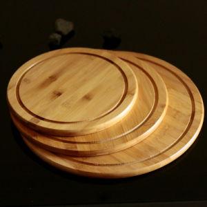 Bandeja da placa de bambu grosso Round cozinha ocidental do disco de pizza em disco