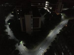 120W tout-en-un Rue lumière solaire lumière extérieure de la lampe d'alimentation