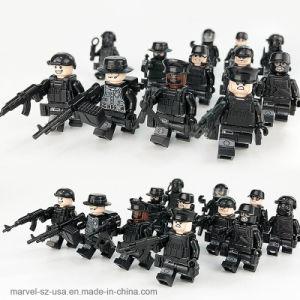 12PCS/definir os soldados das Forças Especiais militares pistolas de tijolos de brinquedos educativos Blocos de Construção