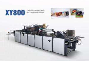 Canto automática de corte Colar Janela de Vincagem Máquina de patches para Caixa de tecido (GK-1080T)