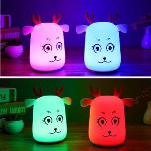 Toque em LED de intensidade da luz nocturna recarregável USB Lamp Criança Segura