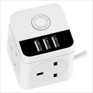 Hot Sale Magic Sockets 13A 16un interrupteur mural de puissance série Socket avec USB