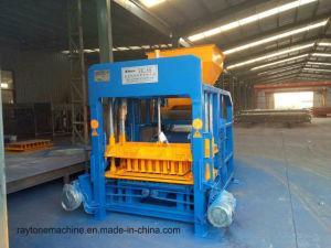 O Qt4-18 Pavimentadora de lajes de betão automática hidráulica máquina para fazer blocos de alvenaria
