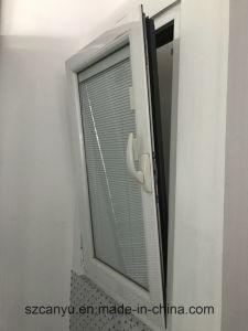 Midlleの盲目のWindowsの中の水平のカスタマイズされたアルミ合金の開き窓