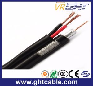 (Syv-75-3+2c Rg59+2c) Setellite 또는 Monitor/CCTV 사진기를 위한 합성 샴 동축 케이블