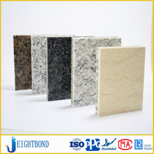 Usine Pierre diret de ventes d'aluminium panneau alvéolé pour revêtements de sol de mur extérieur