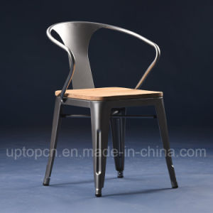 Old-Fashioned Mobiliario de restaurante con sillas de metal y madera doble mesa (SP-CT758)