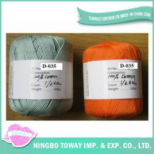 100% algodão Rosca Costura Cruzada lenço de tricô Fios de lã