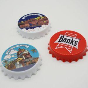La plastica di disegno della capsula di figura rotonda perfezionamento l'apri della birra del vino