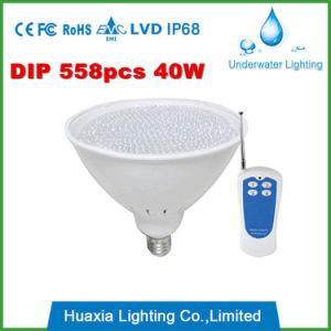 40W indicatore luminoso subacqueo di telecomando PAR56 LED per la piscina