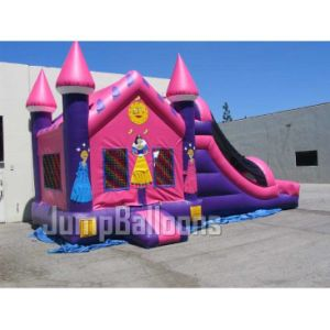 Moonwalks inflable, la princesa del castillo de diapositivas (B3039)