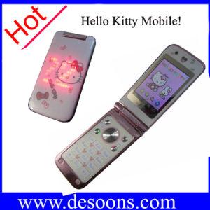 Telefono mobile del gattino di Jinpeng W330 ciao con le carte dello schermo di tocco due