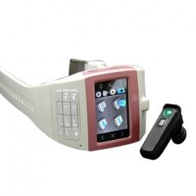 Tri-Band Watch Phone CCKEG100 Pink + Bluetooth (SZR050)