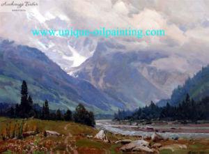 Olieverfschilderij, het Olieverfschilderij van het Landschap, de Met de hand gemaakte Olieverfschilderijen van 100% (V.N.-LAND8523)