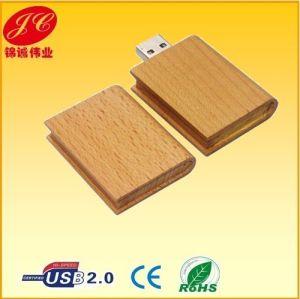 Книга форму переработанной древесины USB-диск пера