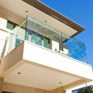 Het aangepaste BuitenTraliewerk van het Balkon van het Traliewerk van het Glas van de Spon van het Roestvrij staal
