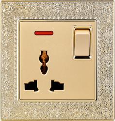 La norme britannique 13A Prise de courant commutée multifonction avec néon (N4)