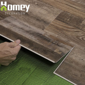 4~5mm Haga clic en material de vinilo resistente al agua Suelos PVC Mosaico de la casa