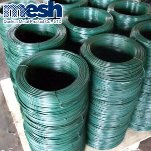 Alambre de hierro recubiertos con PVC utilizado para la valla de tela metálica
