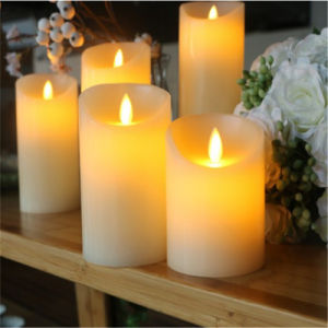 2017 La decoración del hogar sin Flama de Velas LED
