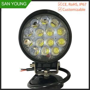 Prix bon marché 42W à LED 4 pouce de la forêt des feux de travail phare de travail de la machine