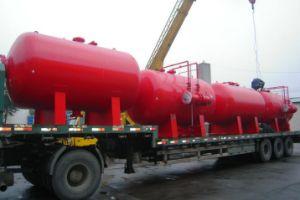 2000LTR de horizontale Afschaffing van de Brandbestrijding van de Tank van het Schuim