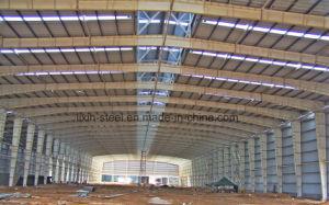 Niedrige Kosten-vorfabrizierte Gebäude-Stahlkonstruktion-Werkstatt mit Dach-Blatt