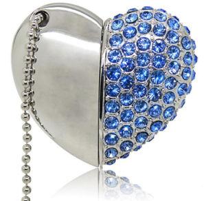 High-Class Diamond ювелирные изделия в форме сердечка флэш-накопитель USB для рекламных подарков