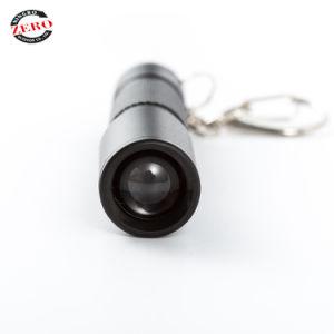 Zoom pequeño foco LED linterna llavero linterna