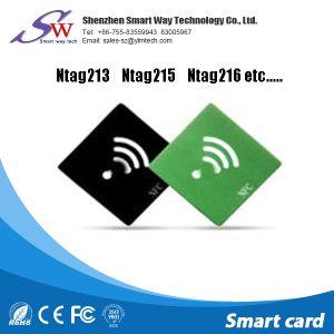 3mの接着剤が付いているカスタム反金属Hf 13.56MHz Ntag213受動RFIDの札