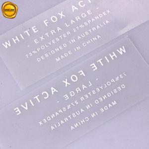 Sinicline 백색 로고를 가진 투명한 PVC 비키니 열전달 레이블