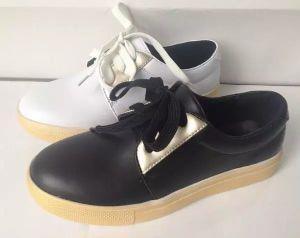 Fashion Style Lady's Chaussures de causalité avec la dentelle jusqu'(NU063)