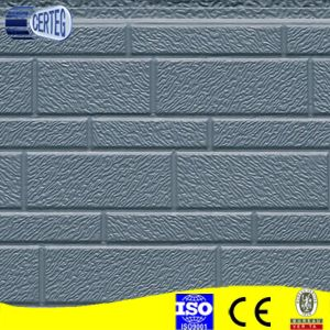 Bossage motif de briques panneau sandwich polyuréthane grise