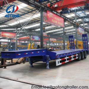 80tons 2 allinea una base dei 4 assi/il rimorchio bassi Transportion camion di Lowboy