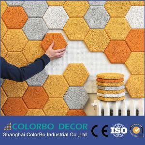 Nouveau matériau de la laine de bois décoratifs insonorisées Panneau mural acoustique