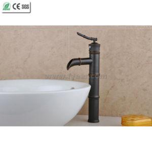 オイルは摩擦した青銅色のタケ滝の浴室の洗面器のコック(Q14606B)を