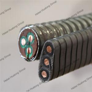 2kv bomba submersível elétrica plana do cabo de alimentação do ESP
