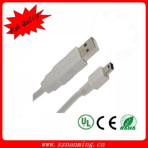 3m 10ft USB 2.0 Maleから5つのPin Mini USB Male Cable