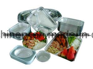 Desechables de papel de aluminio semiautomática máquina de hacer la Caja de Alimentos
