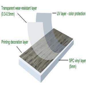 防水スリップ防止6mm WPCビニールのフロアーリング