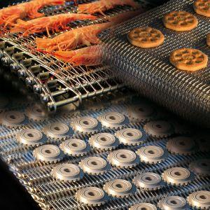 Aço inoxidável grau alimentício Flex Correia Transportadora de malha de arame