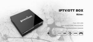 Empfänger Ipremium Ulive+ Unterstützungsphasen-Fernsehapparat Digital-IPTV und Media Center