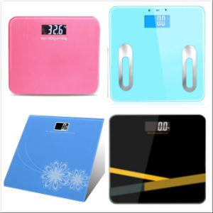 Scala elettronica di salute del peso del corpo di vetro di Zzjk-B01-7 150kg