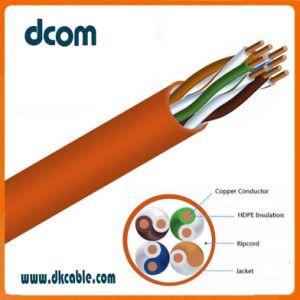 Cu el cable UTP CAT5E 4P 24AWG Alambre de cobre en el interior