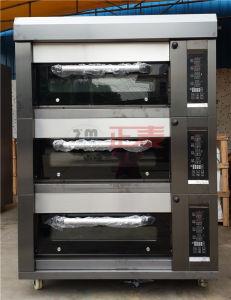 3 Oven van het Baksel van de Pizza van de laag 6tray de Elektro met het Apparaat van de Timing (zmc-306D)